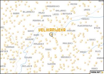 map of Velika Rijeka