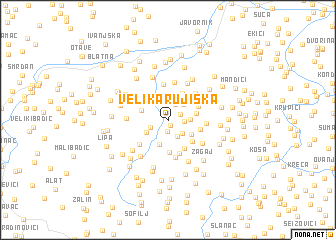 map of Velika Rujiška