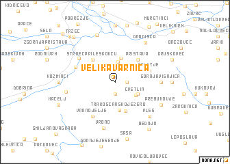 map of Velika Varnica