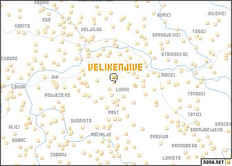 map of Velike Njive