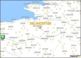 map of Veliki Čentur