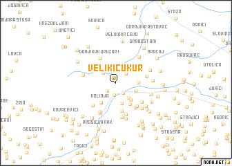 map of Veliki Čukur