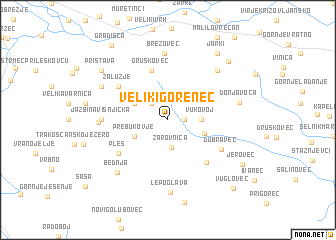map of Veliki Gorenec