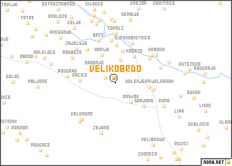 map of Veliko Brdo