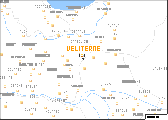 map of Veliternë