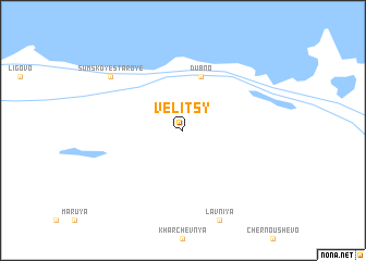 map of Velitsy