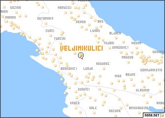 map of Velji Mikulići