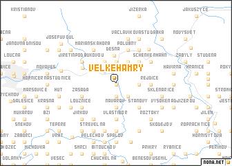map of Velké Hamry