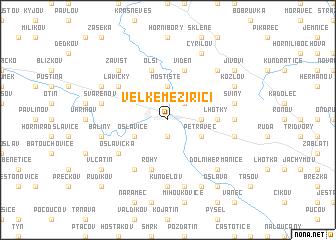 map of Velké Meziříčí