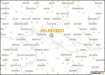 map of Velké Zboží