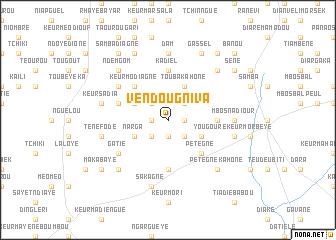 map of Vèndou Gniva