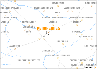 map of Vendrennes
