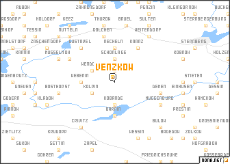 map of Venzkow