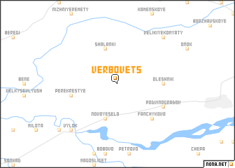 map of Verbovets