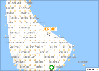 map of Verdun