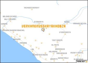 map of Verkhnerusskaya Khobza
