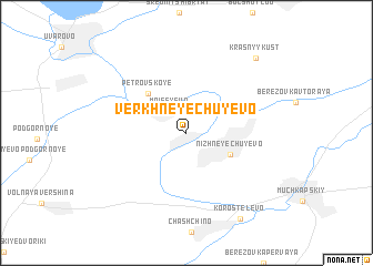 map of Verkhneye Chuyevo