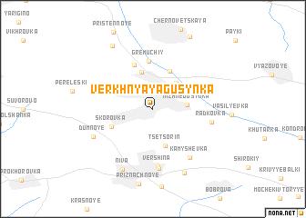 map of Verkhnyaya Gusynka