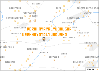 map of Verkhnyaya Lyubovsha