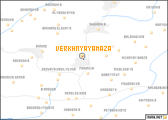 map of Verkhnyaya Maza