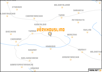 map of Verkhouslino