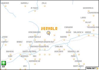 map of Vermala