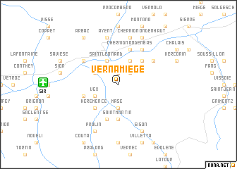 map of Vernamiège