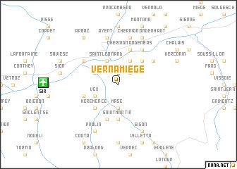 map of Vernamiège