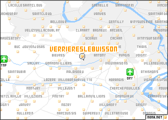 map of Verrières-le-Buisson