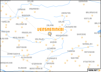 map of Versmėninkai