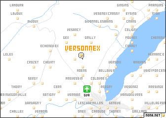 map of Versonnex