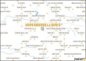 map of Vers-sous-Sellières