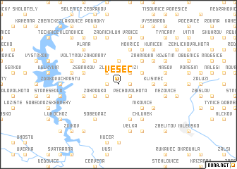 map of Vesec