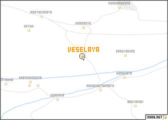 map of Vesëlaya