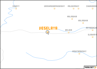 map of Vesëlaya