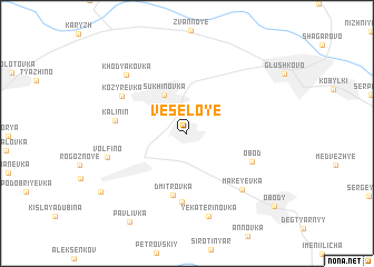 map of Vesëloye