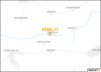 map of Vesëlyy