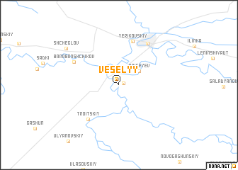 map of Vesëlyy