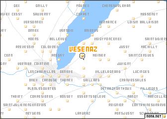 map of Vésenaz