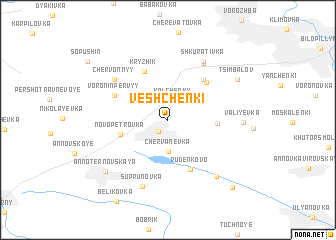 map of Veshchenki