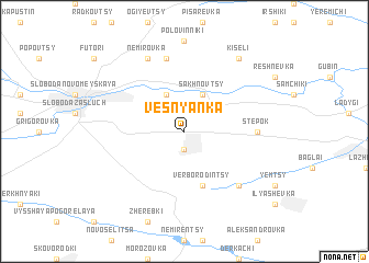 map of Vesnyanka