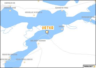 map of Vetka