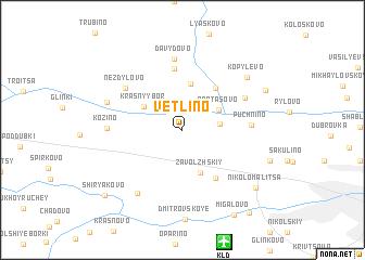 map of Vetlino