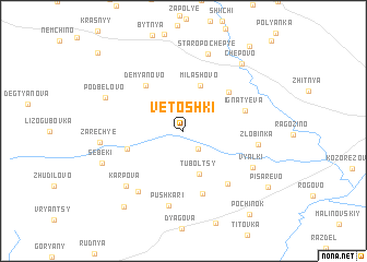 map of Vetoshki