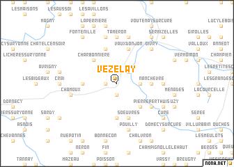 Vezelay France Map.Vezelay France Map Nona Net