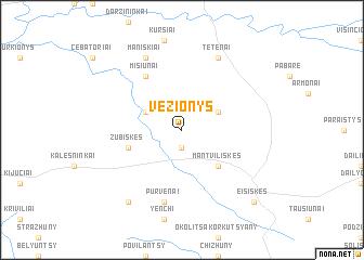 map of Vėžionys