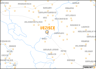 map of Vezišće