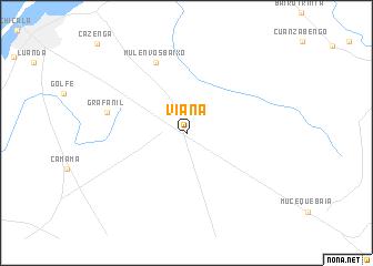 viana angola mapa Viana (Angola) map   nona.net viana angola mapa