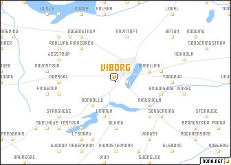 Viborg (Denmark) map - nona.net