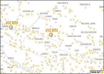 map of Vicani
